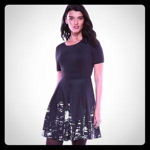 Elie Tahari Black Cityscape Dress Size 10